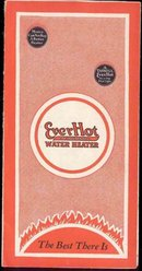 old vintage EVERHOT WATER HEATER booklet