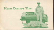 old vintage 1950s GREEN MACHINE LAWN pamphlet