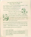 old vintage 1950s GREEN MACHINE LAWN pamphlet