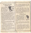 old vintage Hair Tonic Ad Pamphlet