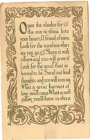 old vintage Sunshine Poem
