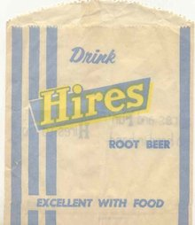 Hires Root Beer Soda Bag