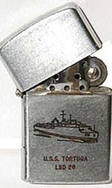 U.S.S. Tortuga Cigarette Lighter 1960s