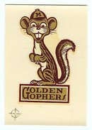 old vintage 1950s MINNESOTA GOLDEN GOPHERS School Decal