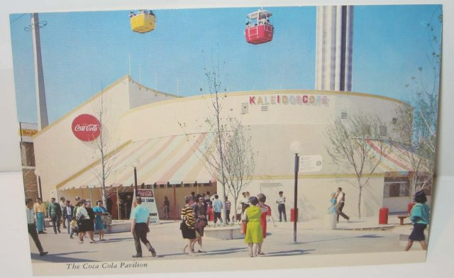 old vintage 1968 COCA COLA SODA postcard ~ Worlds Fair