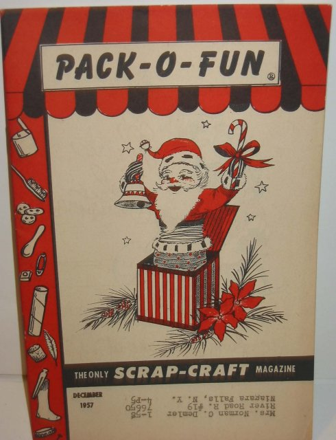 old vintage 1957 CHRISTMAS CRAFT Magazine ~ pack o fun scrap
