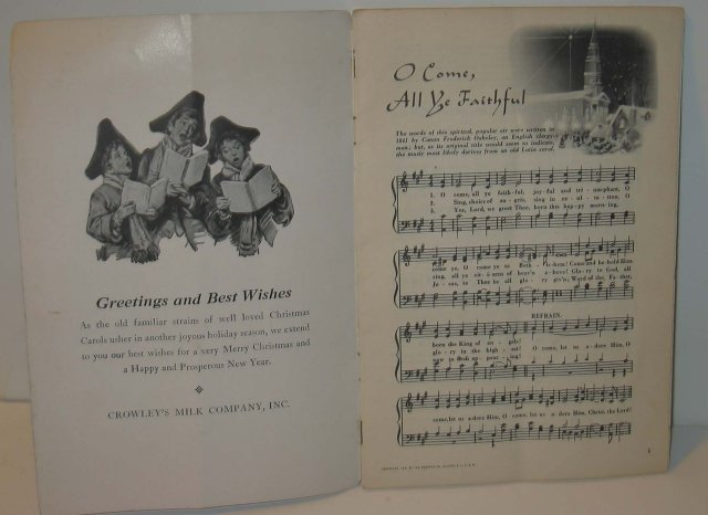 old vintage 1950s CHRISTMAS CAROLS Music booklet