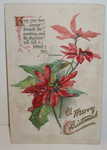 old vintage 1914 POSTED HOLIDAY CHRISTMAS postcard used