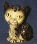 old vintage JAPAN CAT STATUE figurine