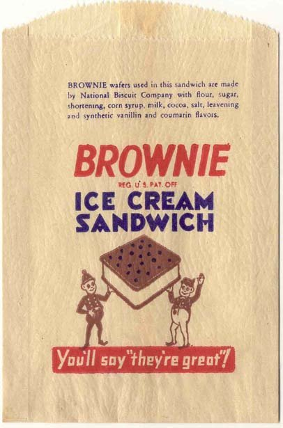 Brownie Ice Cream Sandwich Bag