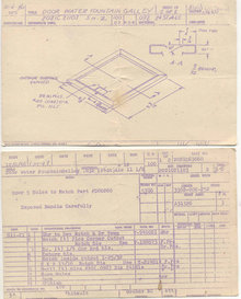 old vintage Water Fountain Schematic Card
