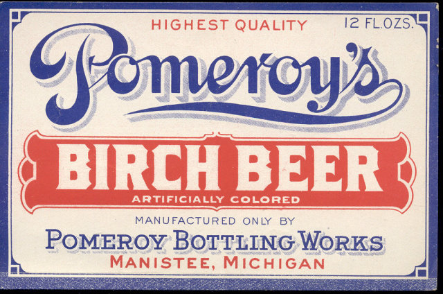 old vintage Pomeroy Birch Beer Label