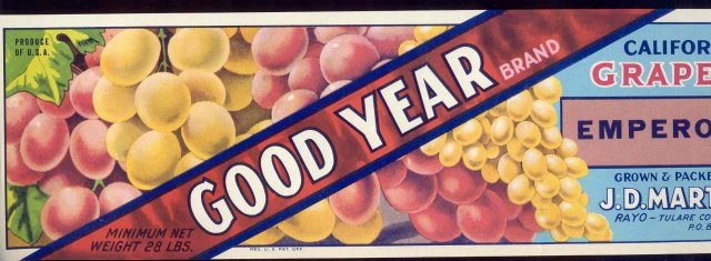Good Year Grape Crate Label