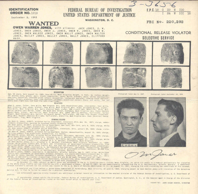old vintage FBI WANTED POSTER * POLICE