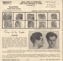 FBI Wanted Poster - George DeRoy Waller 1949