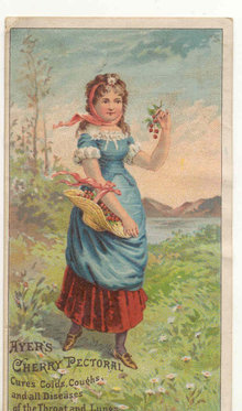 old vintage Ayer's Cherry Pectorial Medicine Card