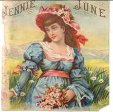 old vintage Jennie June ad Label