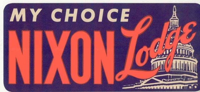 Nixon Bumper Sticker 1964