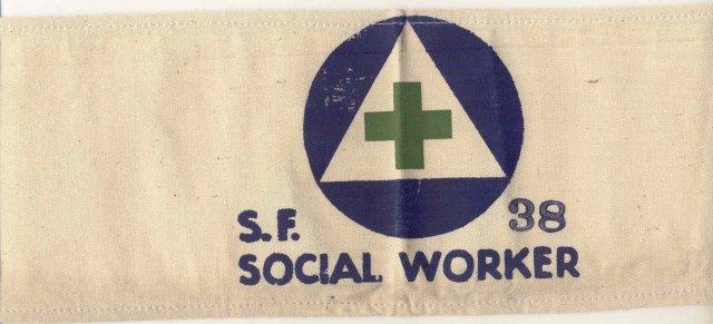 old vintage 1960s SOCIAL WORKER armband