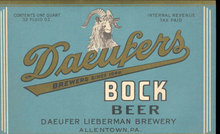 old vintage DAEUFERS Bock Beer Label * Ram
