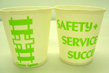2 old vintage 1960s Chessie System Railroad cups