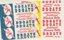 Old vintage 1950s 1960s B BATS Candy Wrappers