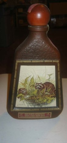 Jim Beam Racoon Whiskey bottle