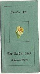 old vintage 1939 GARDEN CLUB Dexter Maine Calendar booklet