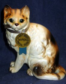 old vintage NATIONAL POTTERIES CHAMPION CAT statue figurine