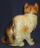 old vintage NATIONAL POTTERIES CHAMPION CAT statue figurine