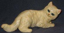 old vintage cream CAT STATUE figurine