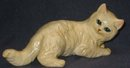 old vintage cream CAT STATUE figurine