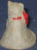 old vintage HANDMADE CAT STATUE figurine