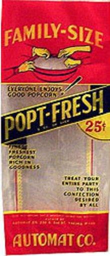 Automat Popt-Fresh Popcorn Bag