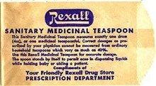 Rexall Sanitary Teaspoon Bags