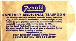 Rexall Sanitary Teaspoon Bags