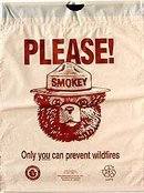 Smokey the Bear Litter Bag