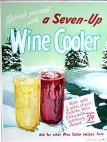 7-UP Soda Wine Cooler Poster