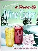 7-UP Soda Wine Cooler Poster