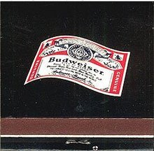 Budweiser Beer Matchbook