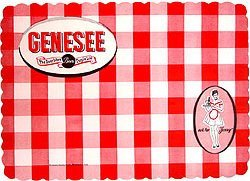 Genesee Beer Placemats