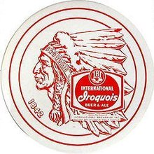 Iroquois Beer Liner3 Tray Sign