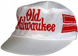 old vintage OLD MILWAUKEE Beer Painter's Hat