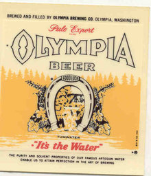 Olympia Beer Decal Sign