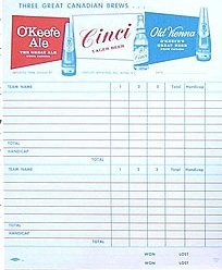 O'Keefe Beer Tally Sheets Toy