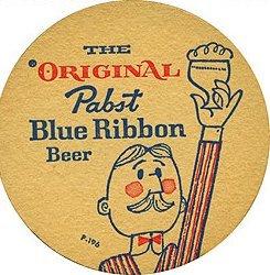 Pabst Blue Ribbon Beer Coaster