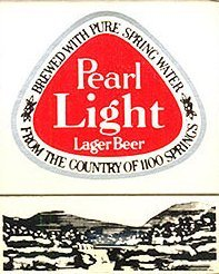 Pearl Light Lager Beer Matchbook