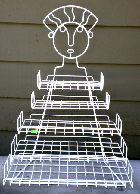 Wire Rack 1950s Shaped Lady