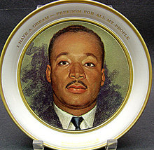 Martin Luther King Commemorative Plate