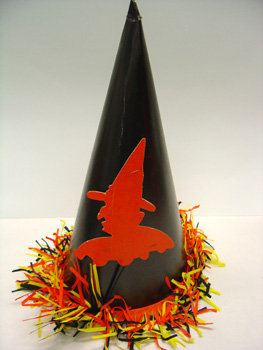 old vintage 1950's Halloween WITCH Hat